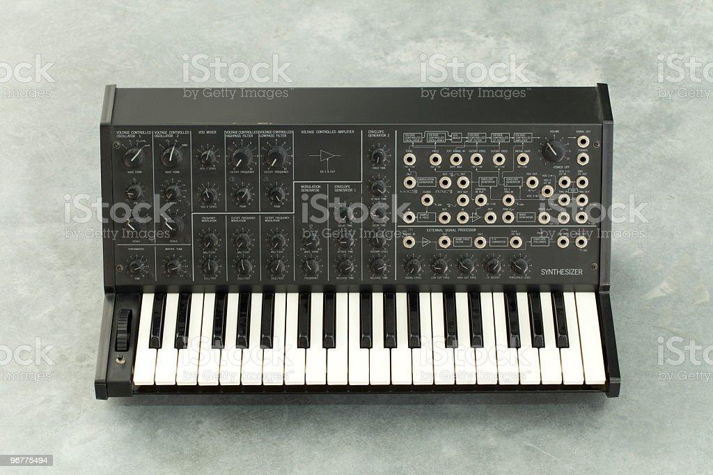 Korg MS20 Retro Analog Synthesizer stock photo