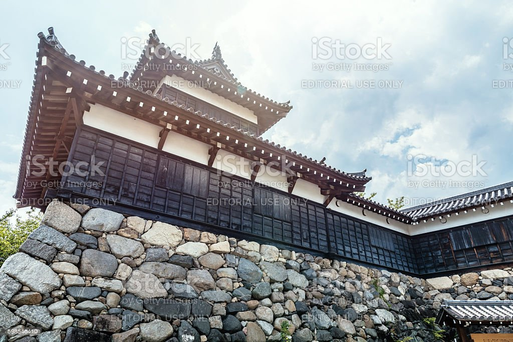 Koriyama Castle in Yamatokoriyama city photo libre de droits