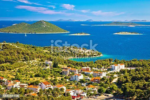 istock Kornati islands national park view from Drage 543054106