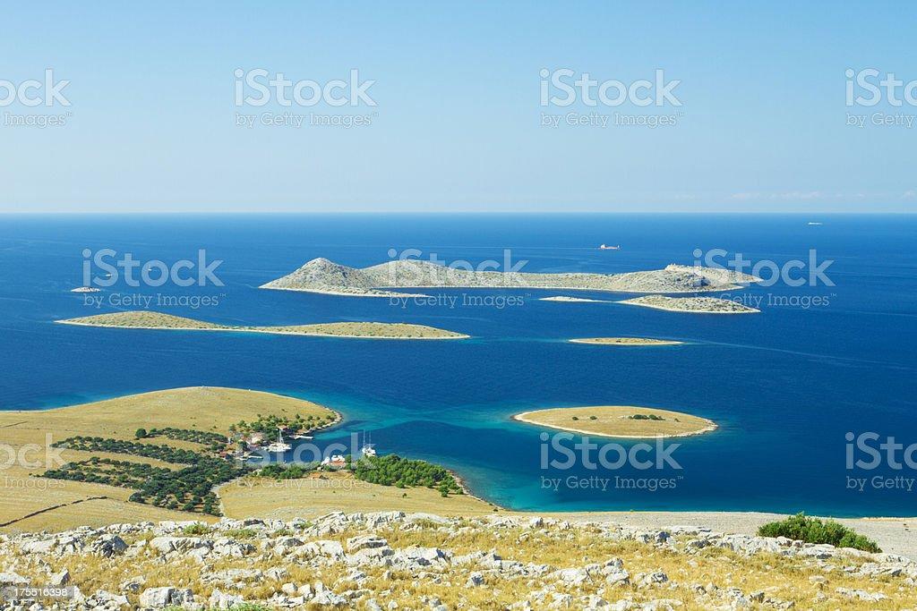 kornati islands panorama stock photo