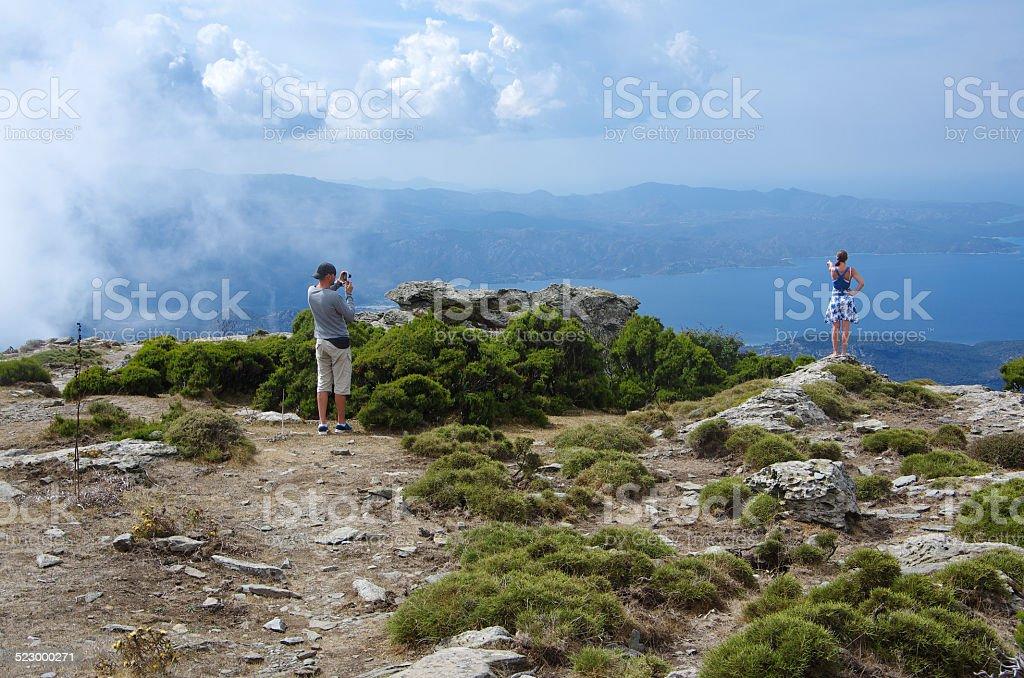 Korsika Bastia Berg stock photo
