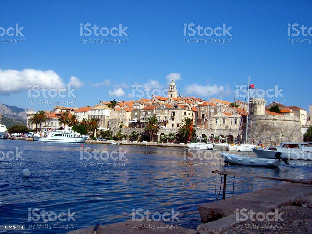Korčula Town, Croatia stock photo