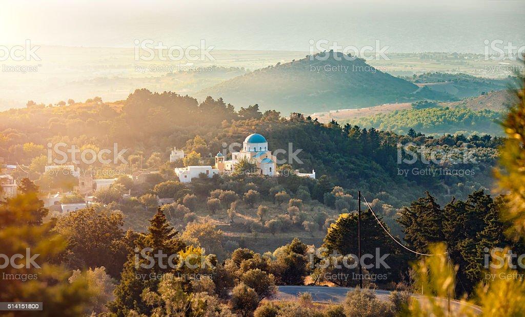 Insel Kos, Griechenland - Lizenzfrei Abenddämmerung Stock-Foto
