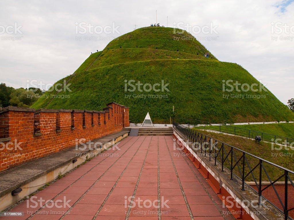 Kosciuszko mound near Krakow stock photo