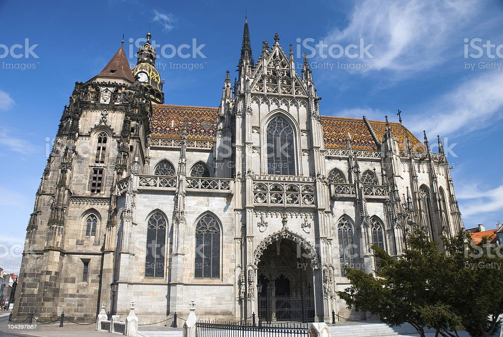 Kosice cathedral stock photo