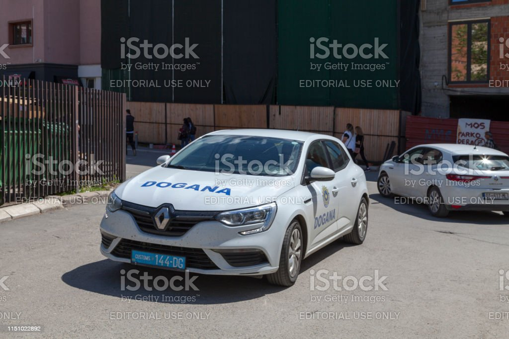 Kosovar customs car stock photo
