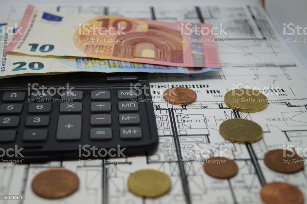 Kosten einer Immobilie stock photo
