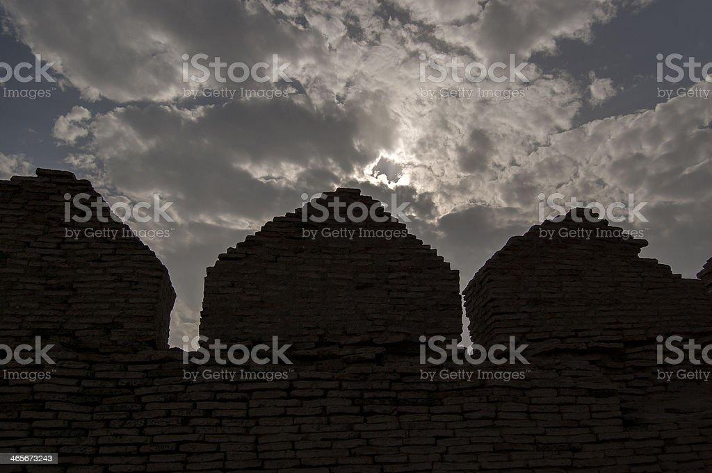 Kot Deji Fort, Sind, Pakistan royalty-free stock photo