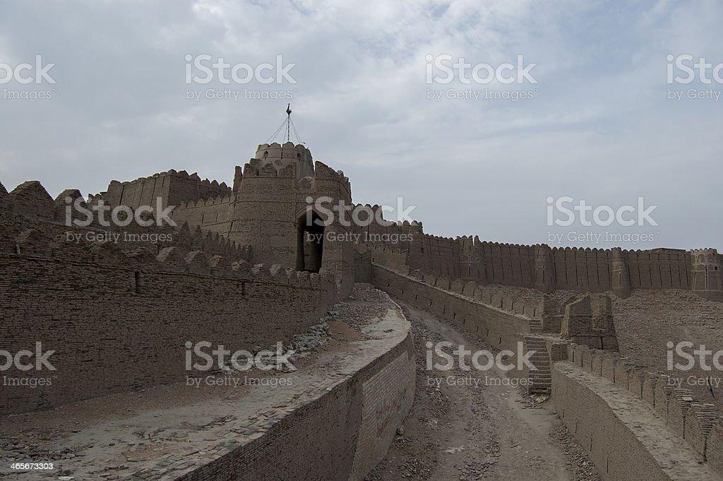 Kot Deji Fort, Sind, Pakistan stock photo