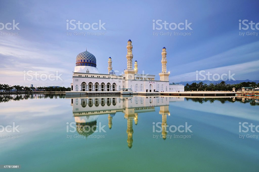 Kota Kinabalu City Floating Mosque stock photo