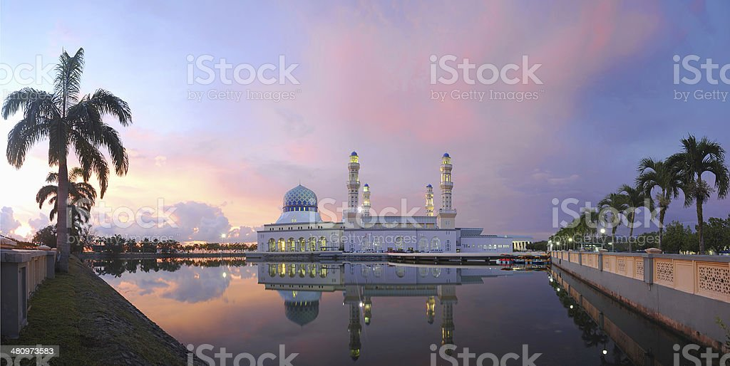 Kota Kinabalu City Mosque stock photo