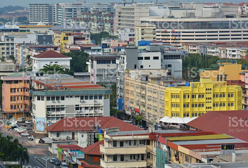 Kota Kinabalu City stock photo