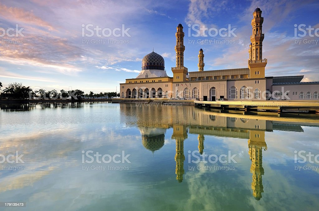Kota Kinabalu Floating Mosque stock photo