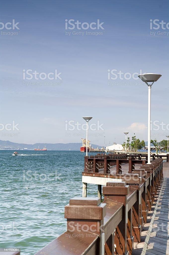 Kota Kinabalu Waterfront royalty-free stock photo