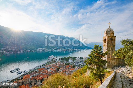 A divine view of Boka Bay and harbor from the hill