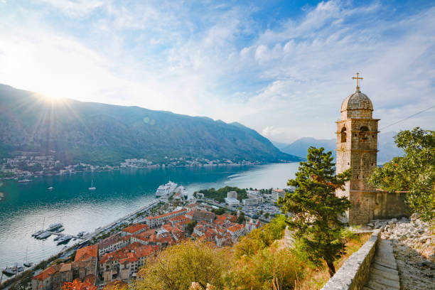 kotor bay,montenegro - headland stock pictures, royalty-free photos & images