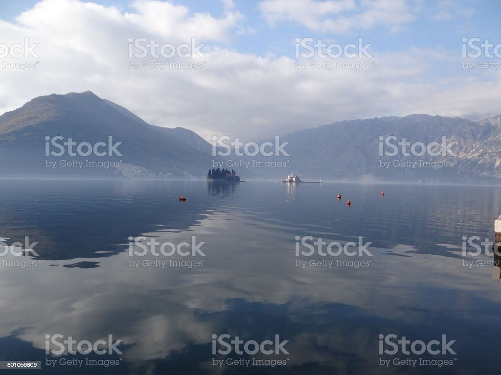Kotor in a beautiful summer day, Montenegro stock photo