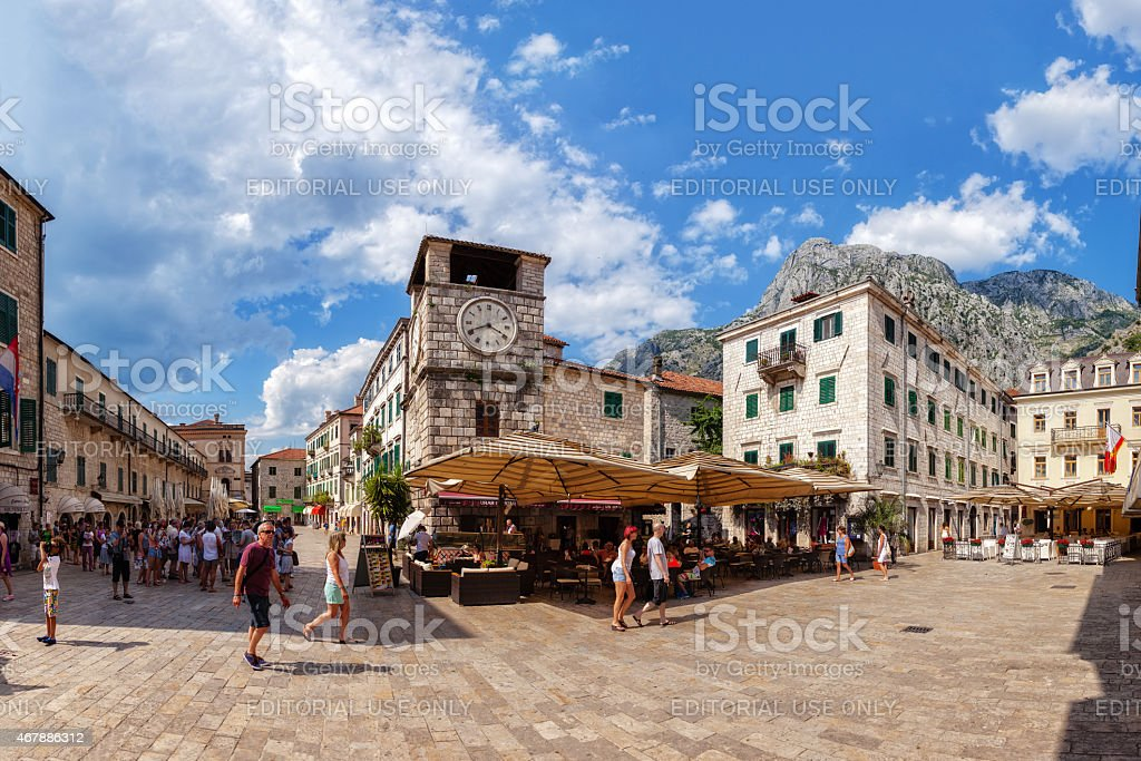 Kotor Main Square stock photo