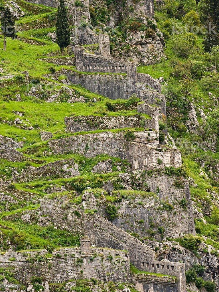 Kotor ruins royalty-free stock photo