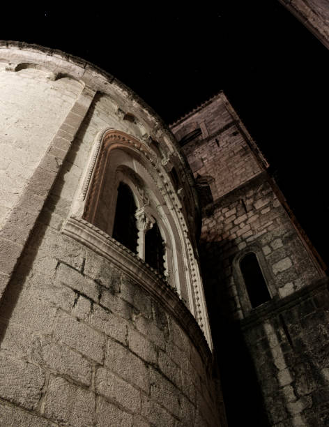 Kotor town by night stock photo