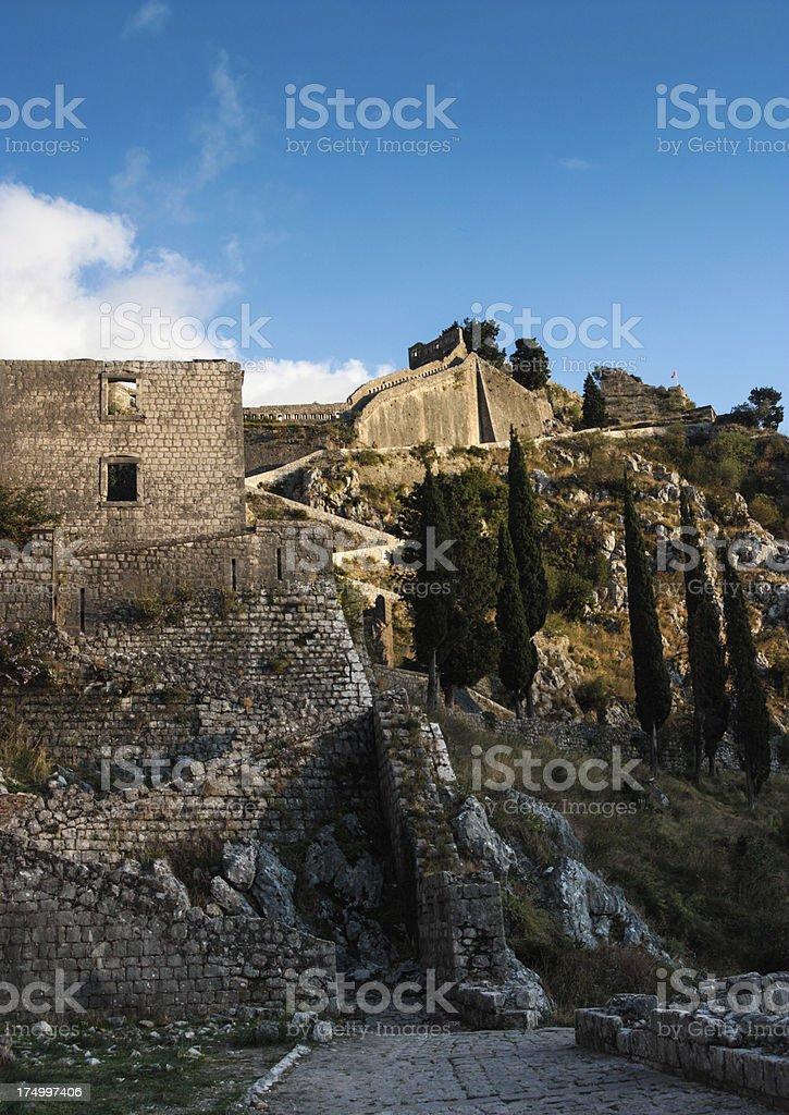 Kotor Walls royalty-free stock photo