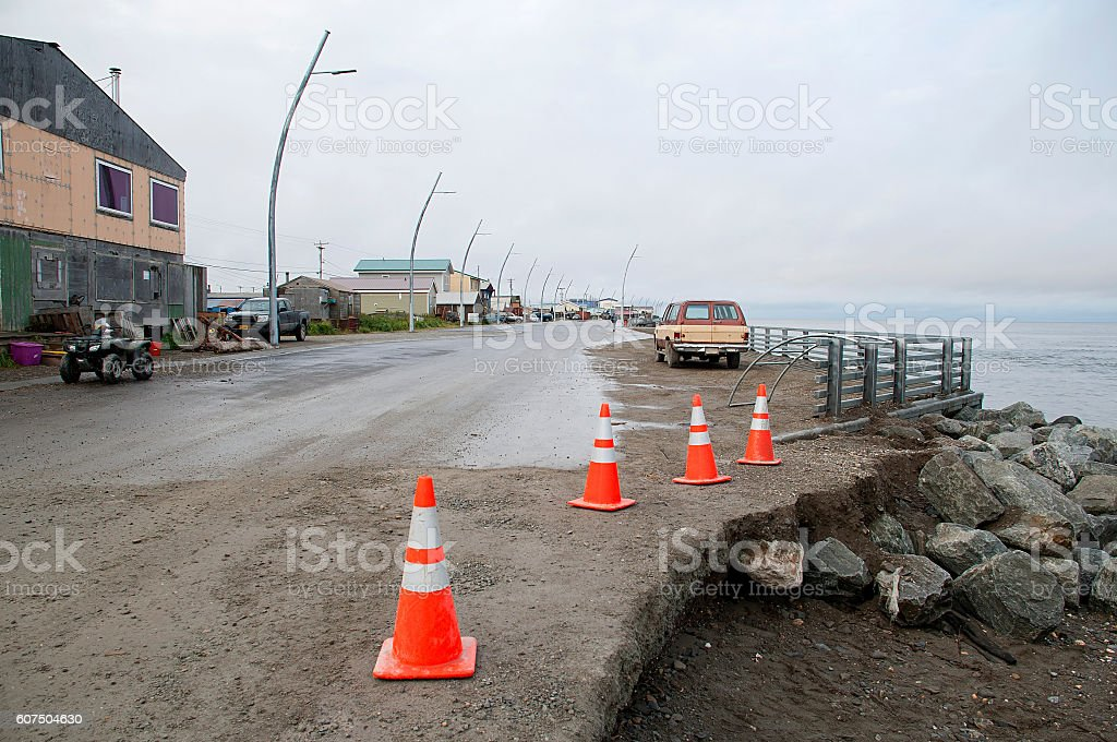 Kotzebue Erosion stock photo