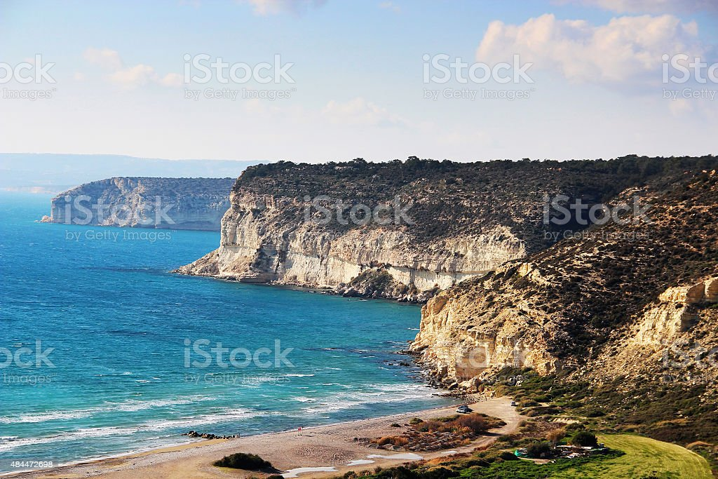 Kourion coast, Cyprus stock photo