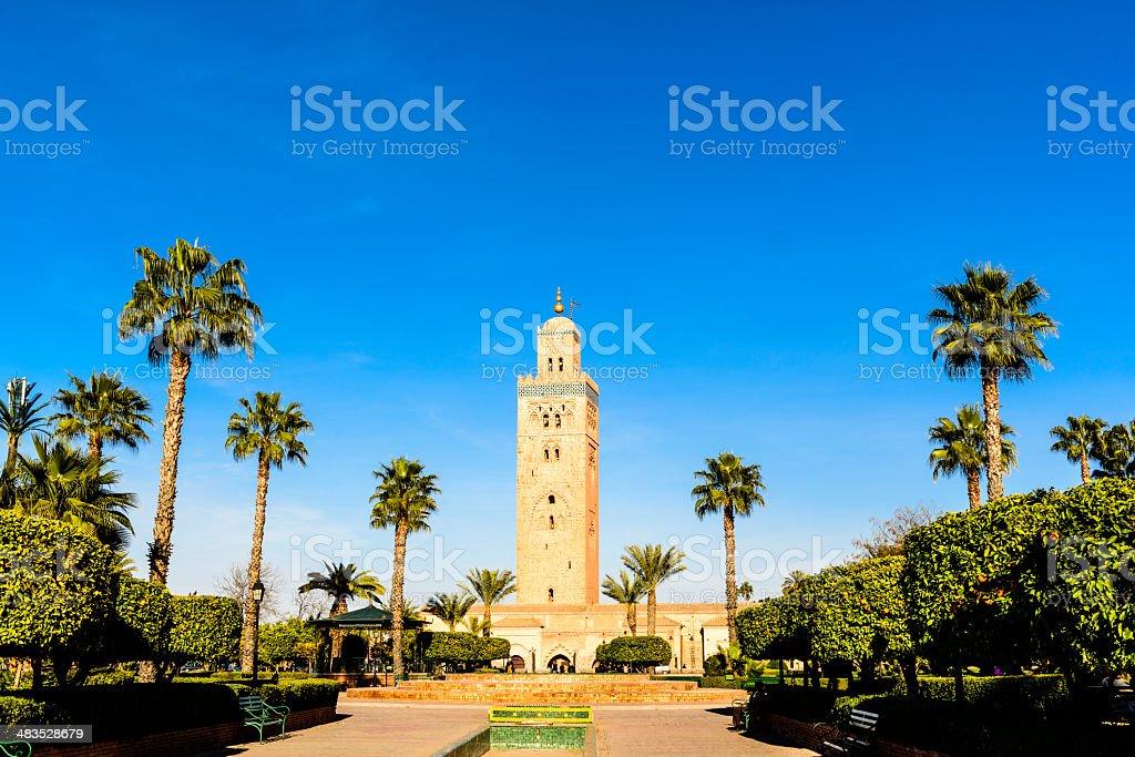 Koutobia Mosque Marrakech stock photo