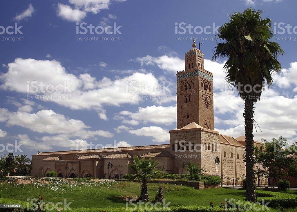 Koutoubia Minaret, Morocco stock photo