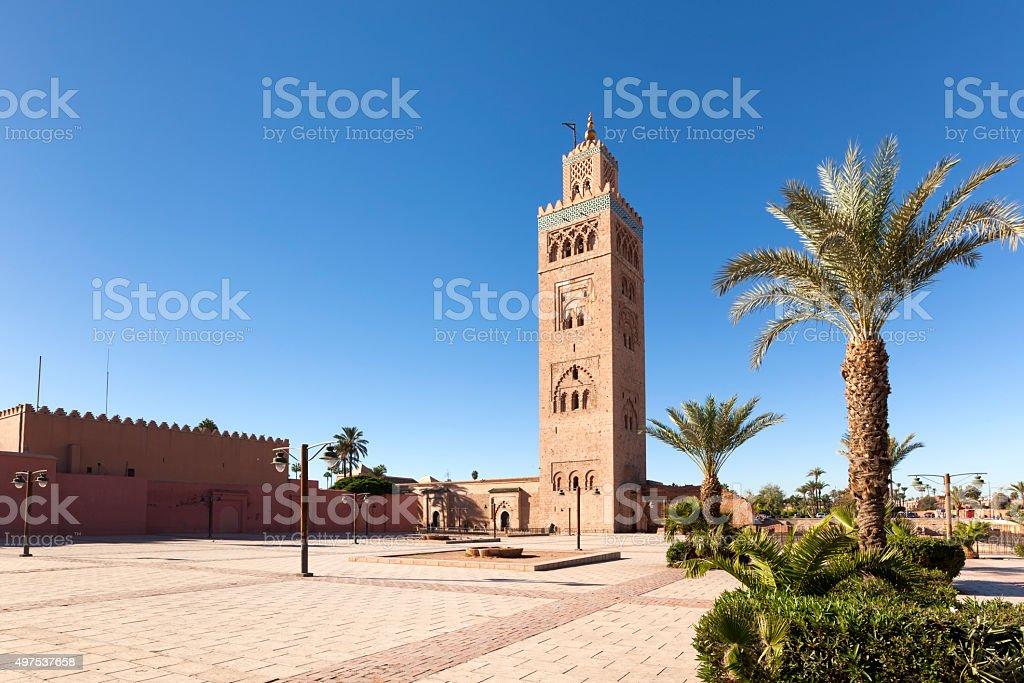 Koutoubia mosque at Marrakesh stock photo