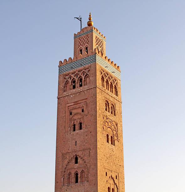 クトゥビアモスク、マラケシュ、モロッコ ストックフォト