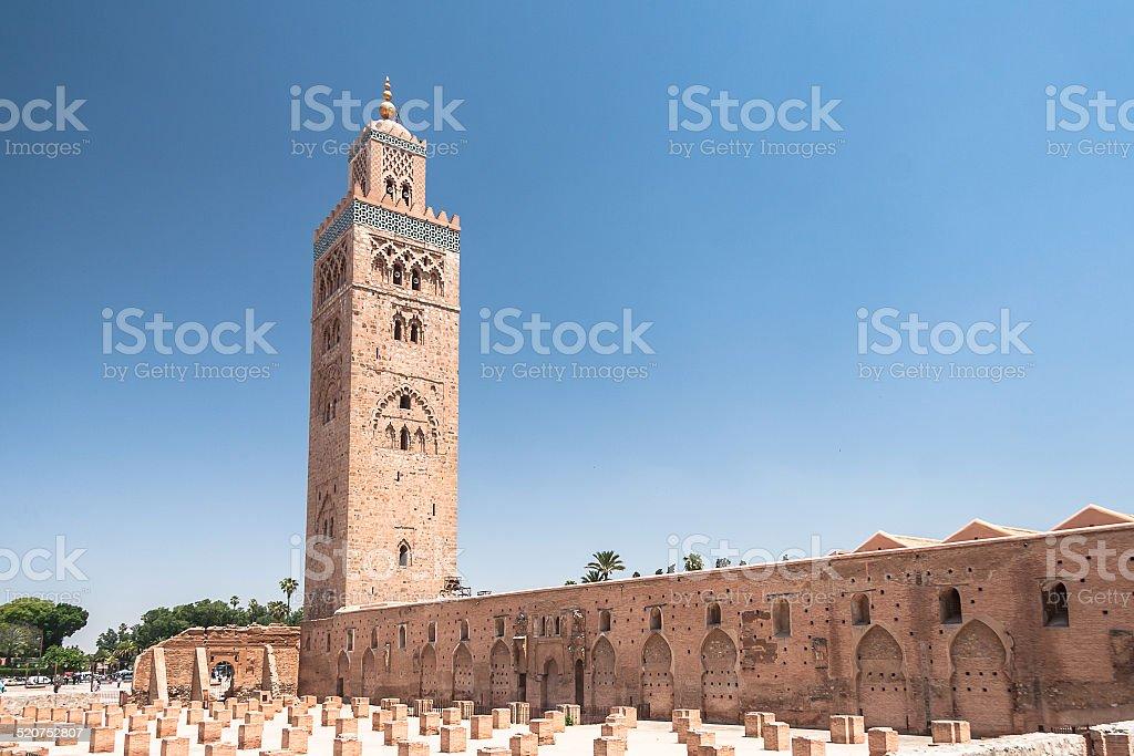 Koutoubia Mosque in Marrakesh stock photo