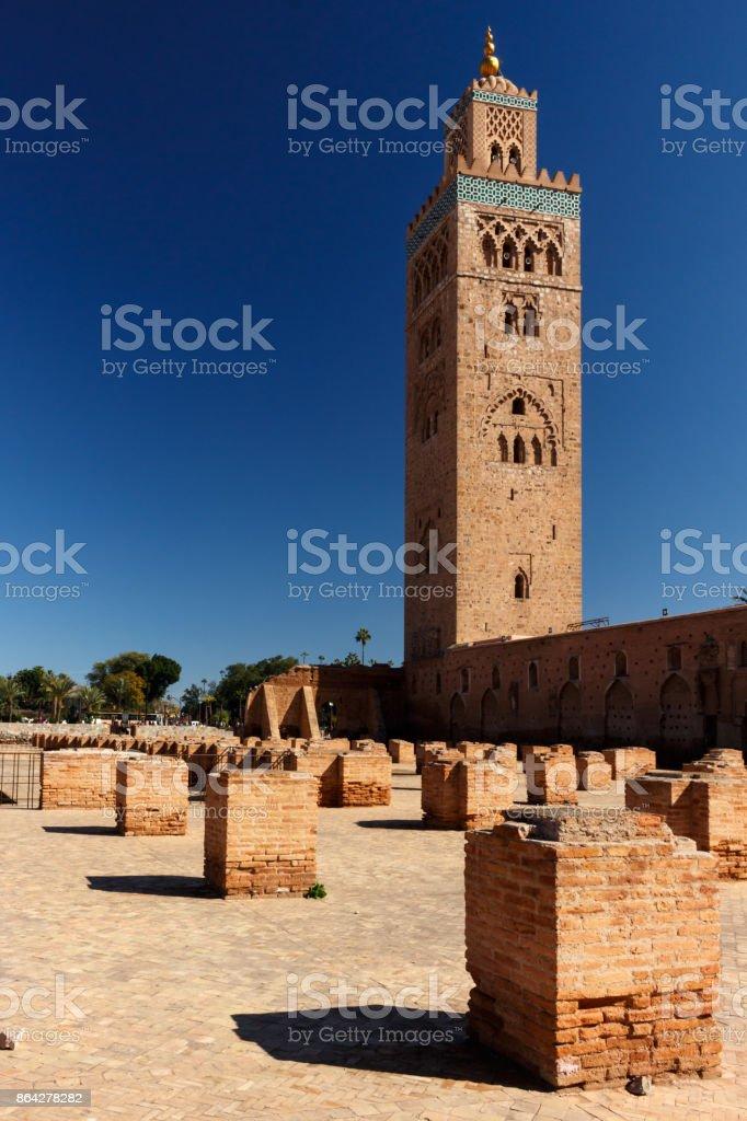 Koutoubia Mosque in Marrakesh royalty-free stock photo