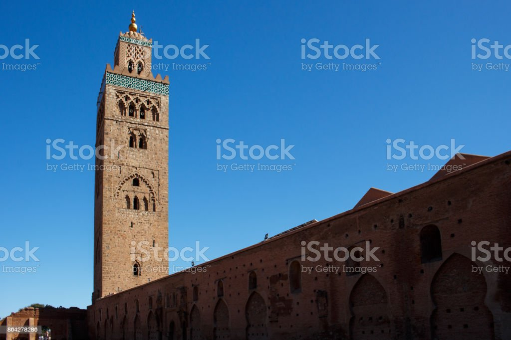 Koutoubia Mosque in Marrakesh royalty-free stock photo