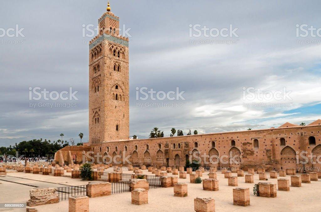 Koutoubia mosque in Morocco stock photo