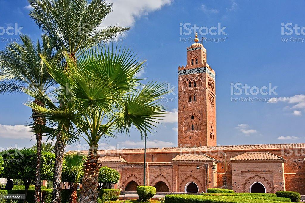 Koutoubia Mosque in the southwest medina quarter of Marrakesh – Foto