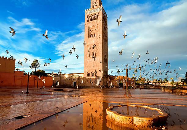 Koutoubia mosque, Marrakech, Morocco Koutoubia mosque, Marrakech, Morocco minaret stock pictures, royalty-free photos & images
