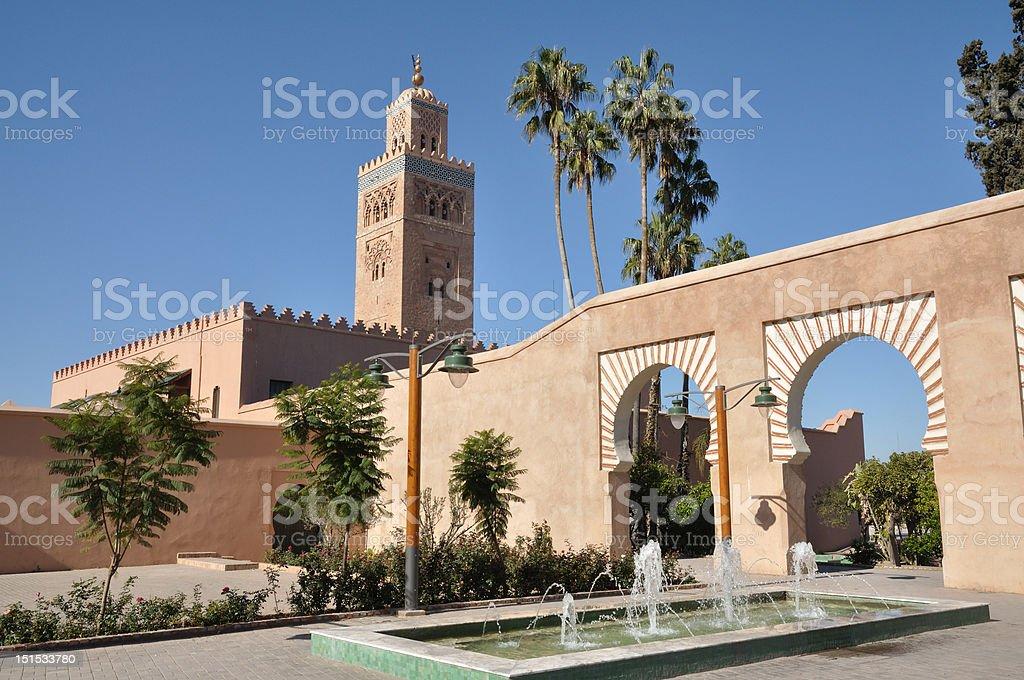 Koutoubia Mosque, Marrakech stock photo