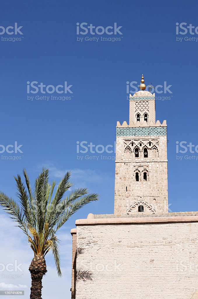 Koutoubia Mosque Marrakesh royalty-free stock photo