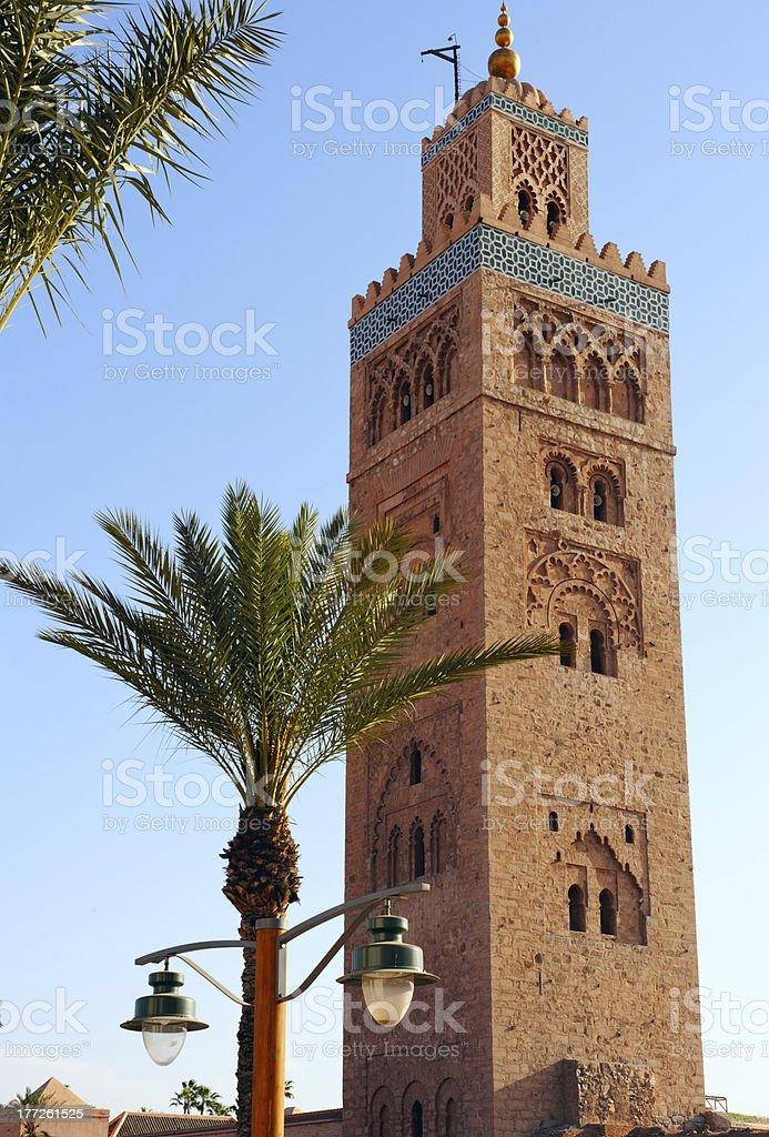 Koutoubia Mosque, Marrakesh royalty-free stock photo