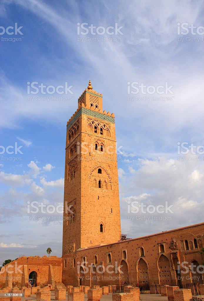 Koutoubia Mosque, Marrakesh,Morocco. stock photo