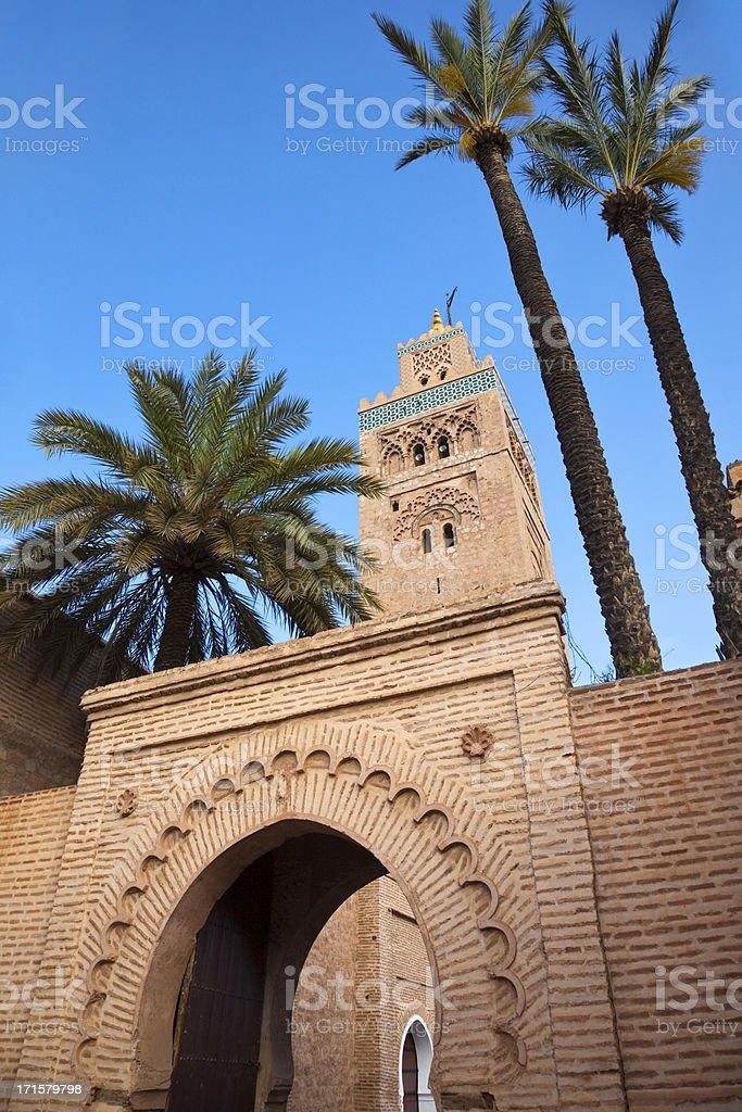 Koutoubia Mosque royalty-free stock photo