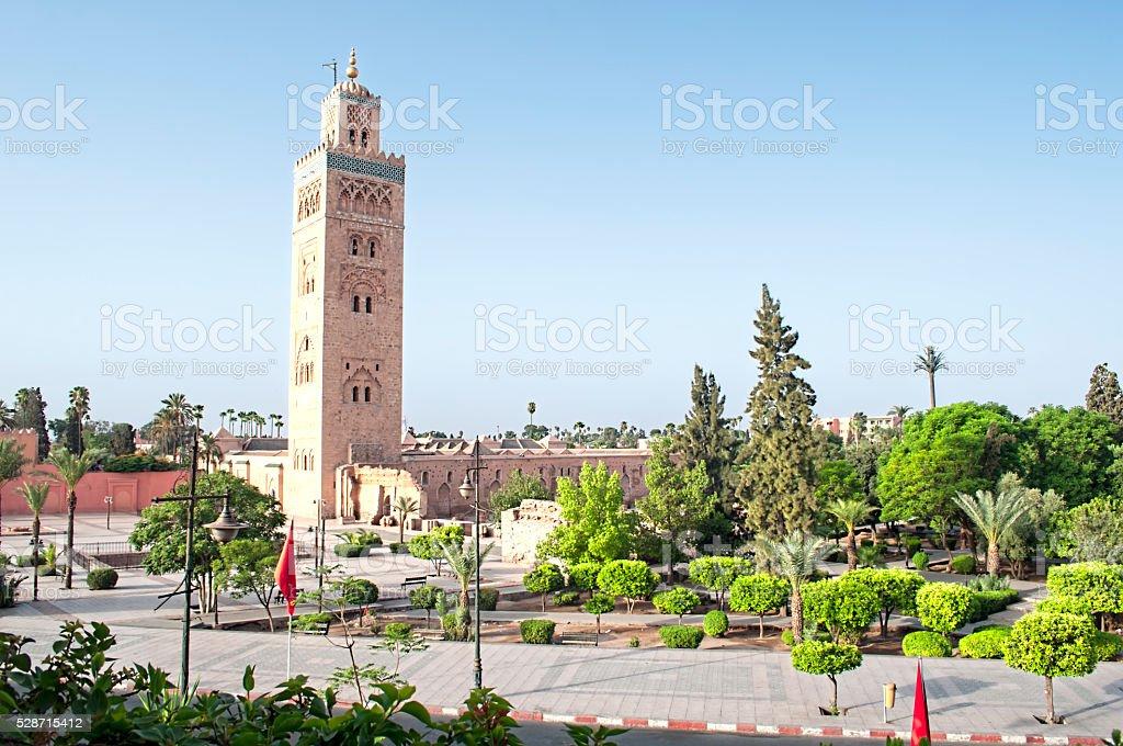 Marrakech, Morocco - August,3 , 2015: Koutoubia mosque stock photo