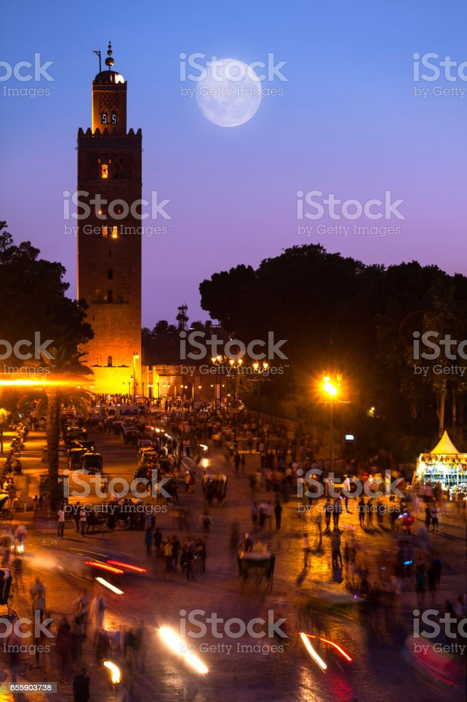 Koutoubia mosque stock photo