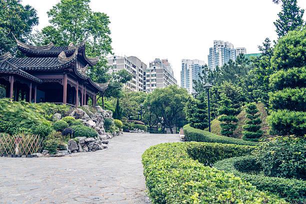 kowloon stadtmauer park - kowloon stock-fotos und bilder
