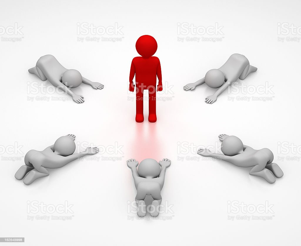 Kowtow to the Leader stock photo