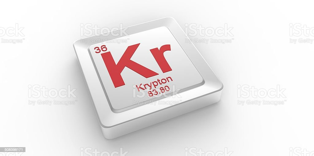 Kr Symbol 36 Material For Krypton Chemical Element Stock Photo