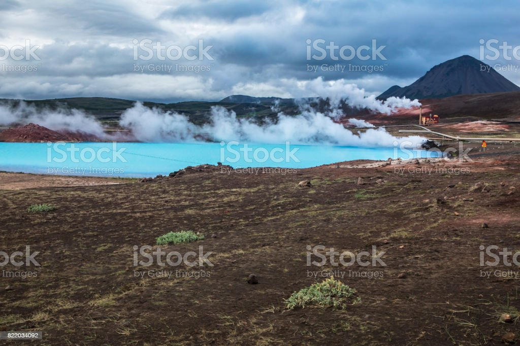 Krafla Geothermal Power Station in Myvatn Iceland stock photo