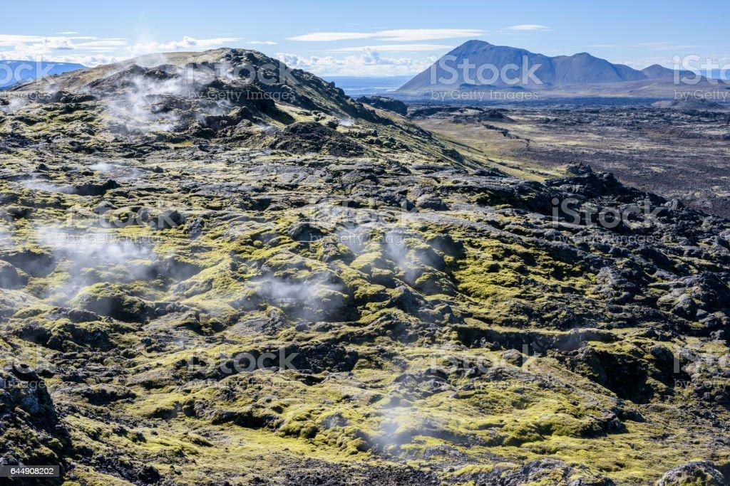 Krafla, Iceland stock photo