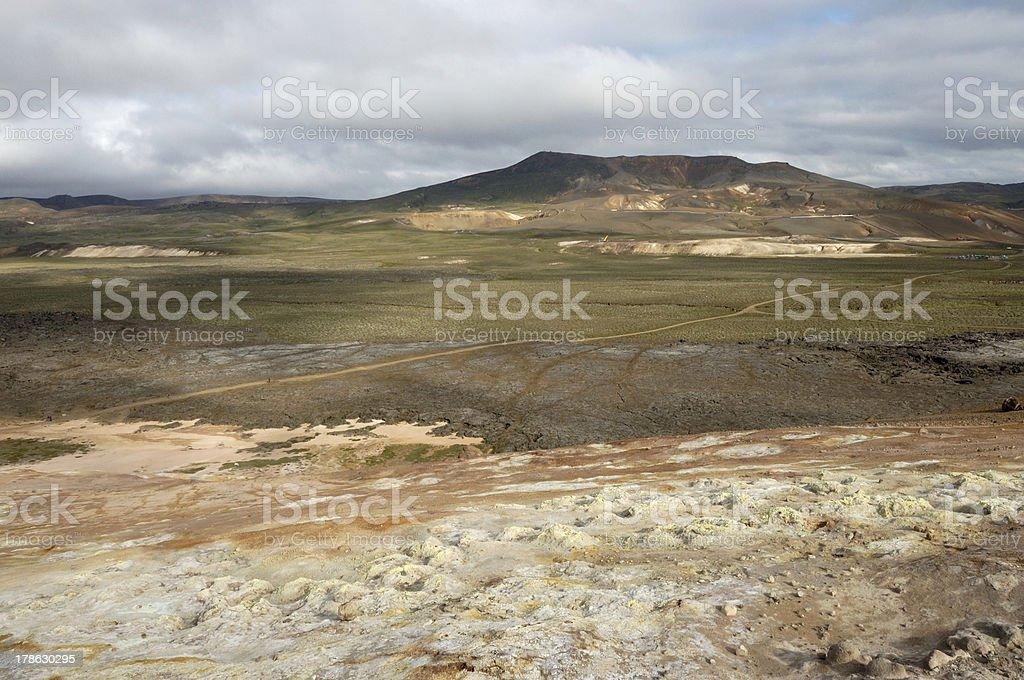 Krafla volcanic area, Iceland. stock photo